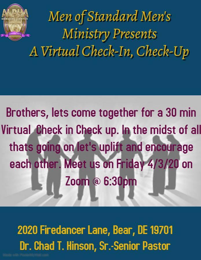 Men's Virtual Checkup Meeting on Zoom